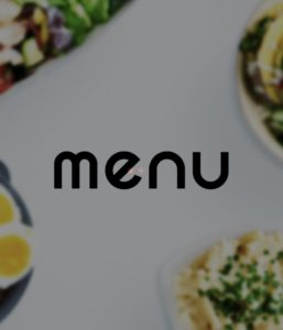 menu(メニュー)アプリ起動画面